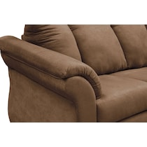adrian light brown  pc sectional and accent chair