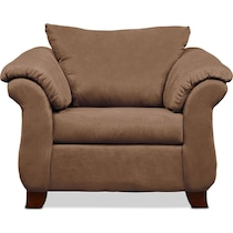 adrian light brown  pc sectional and chair