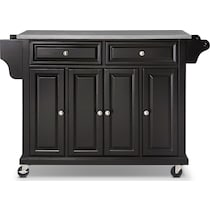 albany black kitchen cart