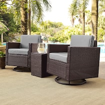 aldo outdoor gray outdoor chair set