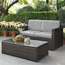 aldo outdoor gray outdoor loveseat set