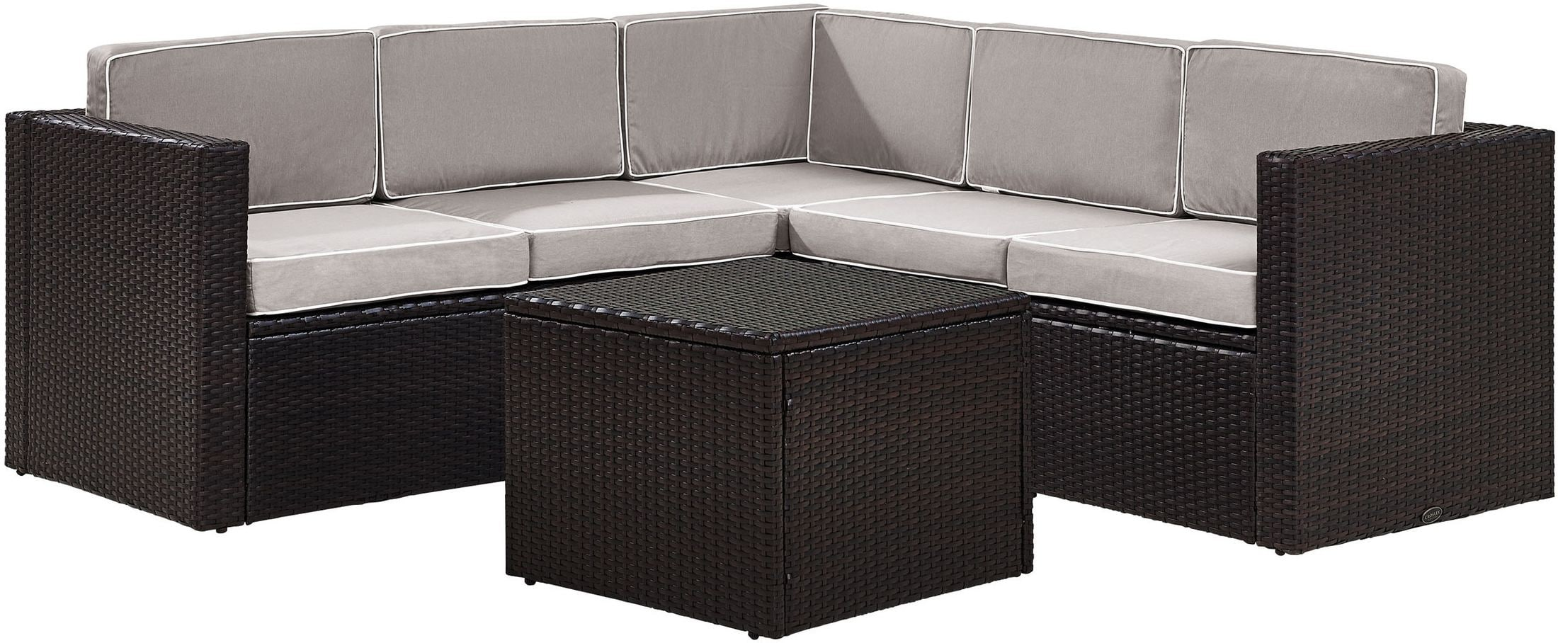 Outdoor Furniture - Aldo 6-Piece Outdoor Sectional and Table Set