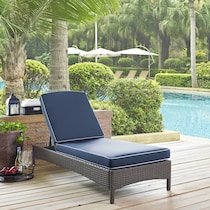 aldo blue outdoor chaise