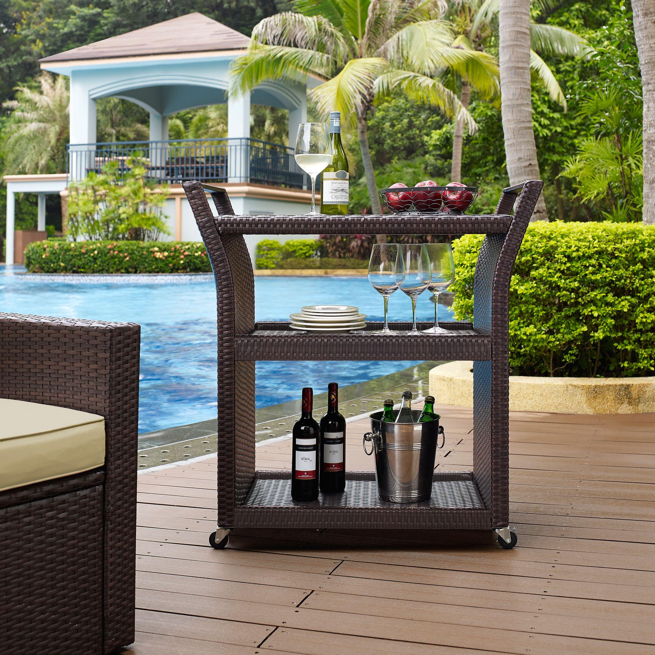 Outdoor Furniture - Aldo Outdoor Bar Cart