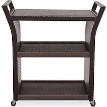 aldo dark brown bar cart