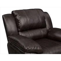 aldo dark brown manual recliner