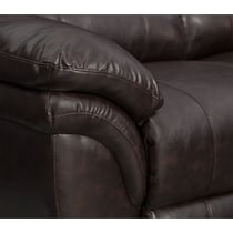 aldo dark brown manual recliner