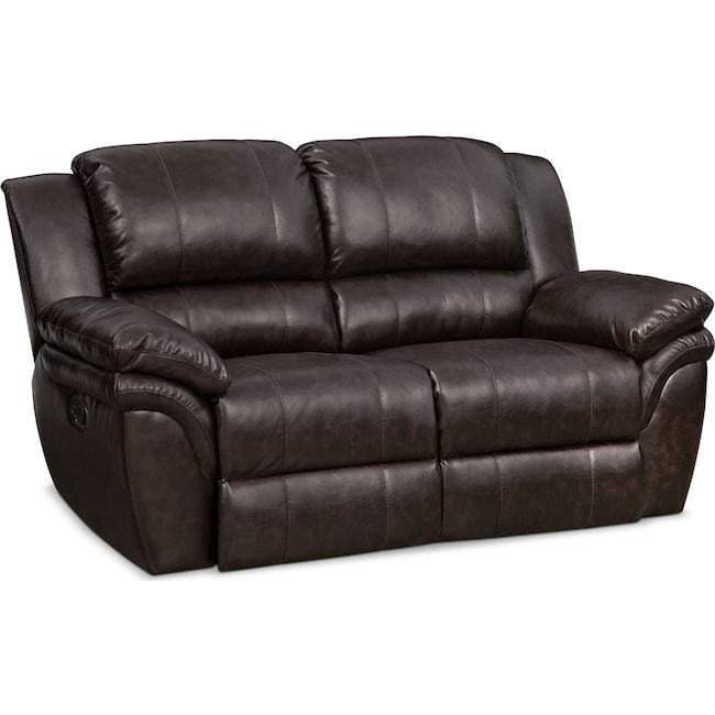 Living Room Furniture - Aldo Manual Reclining Loveseat