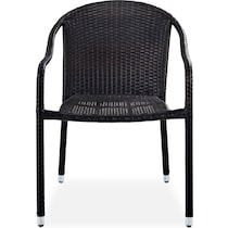 aldo dark brown outdoor chair set