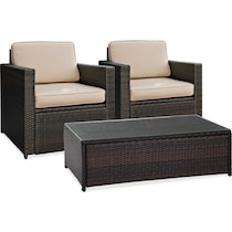 aldo dark brown outdoor chair set