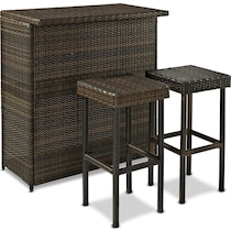 aldo dark brown outdoor dinette