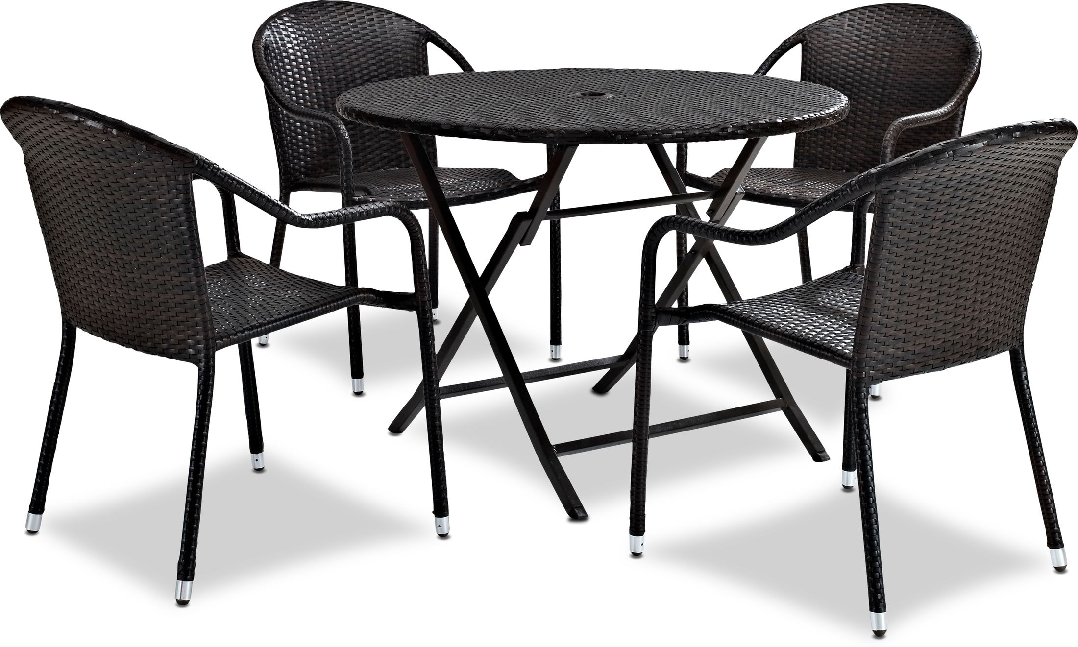 Outdoor Furniture - Aldo Outdoor Café Table and 4 Arm Chairs