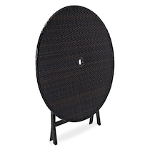 aldo dark brown outdoor dining table