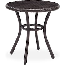 aldo dark brown outdoor dining table