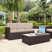 aldo dark brown outdoor sofa