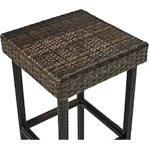 aldo dark brown outdoor stool