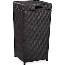 aldo dark brown outdoor storage