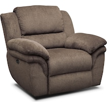 aldo dark brown power recliner