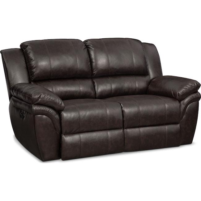 Living Room Furniture - Aldo Power Reclining Loveseat