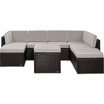 aldo gray outdoor sectional set