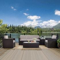 aldo gray outdoor sofa set