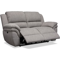 aldo gray power reclining loveseat