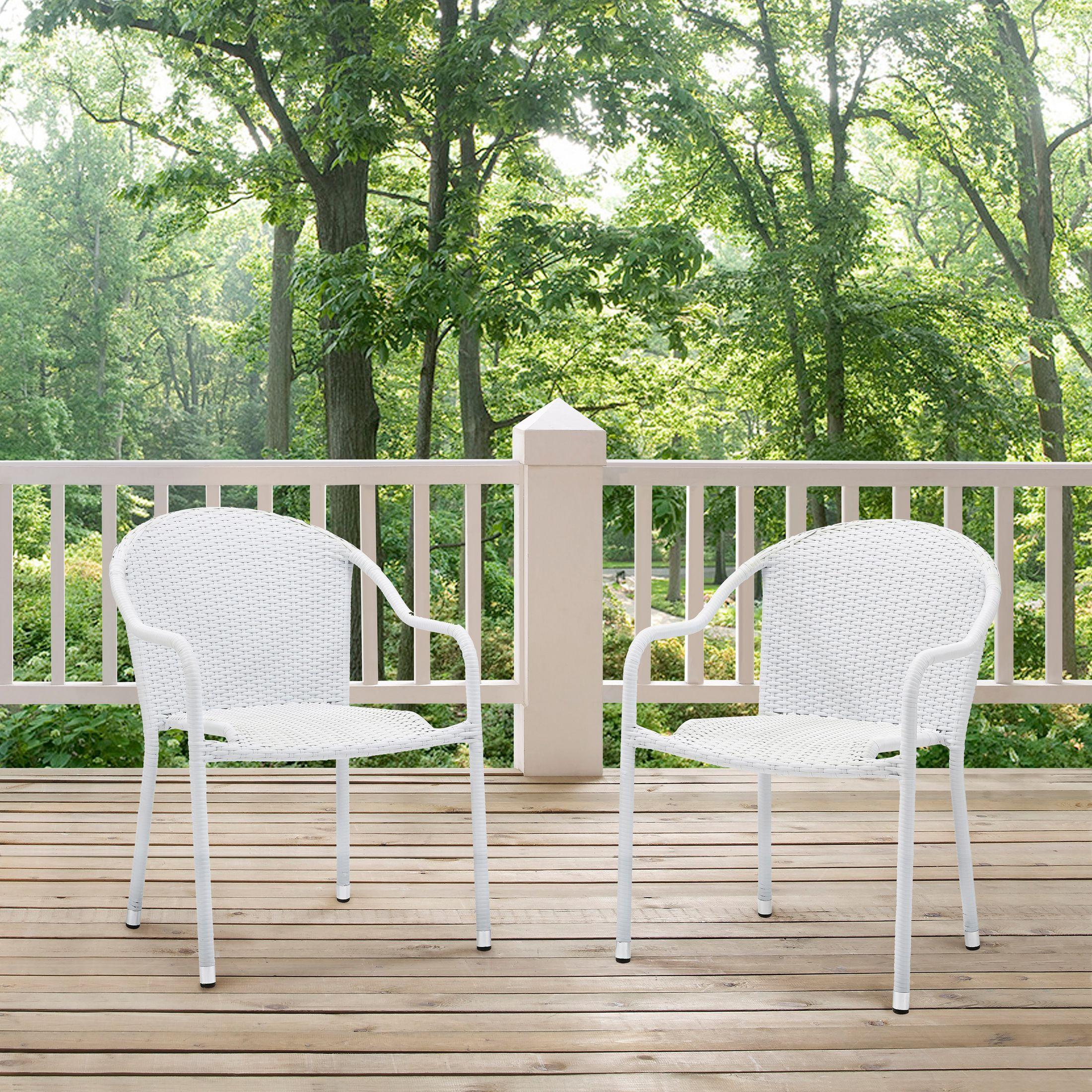 Outdoor Furniture - Aldo Set of 2 Stackable Outdoor Arm Chairs