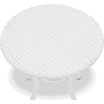 aldo white outdoor dining table