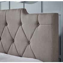 alexis light brown queen upholstered bed