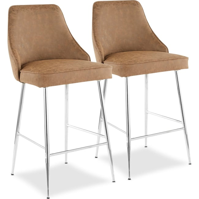 Dining Room Furniture - Ali Set of 2 Counter-Height Stools
