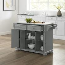 alina gray kitchen island