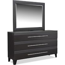 allori black dresser & mirror