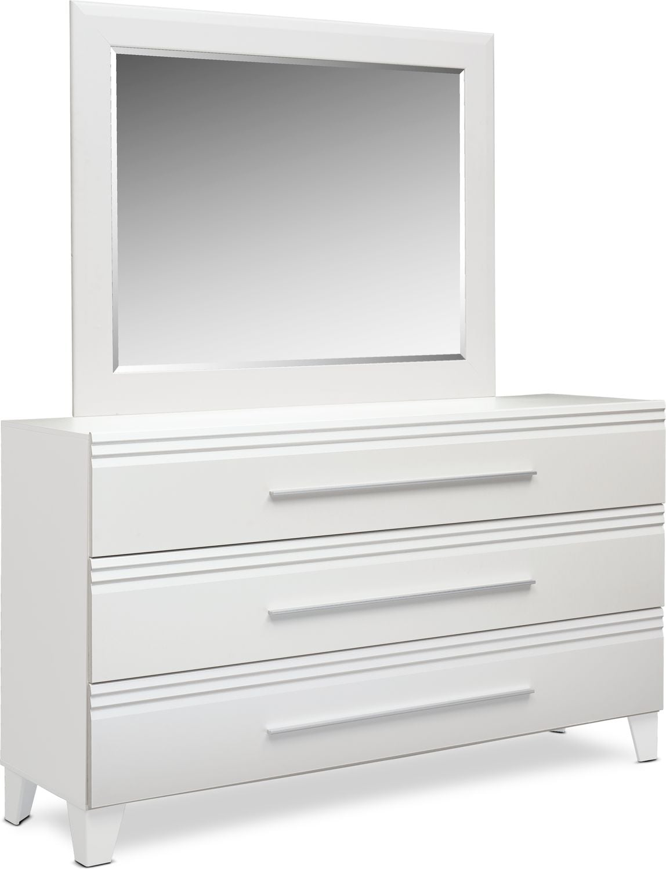 Bedroom Furniture - Allori Dresser and Mirror