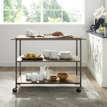 alva light brown kitchen cart