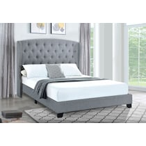 amina white queen upholstered bed