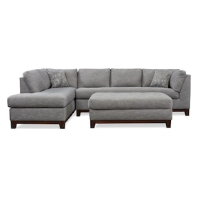 Anderson 2-Piece Sectional with Chaise + FREE OTTOMAN