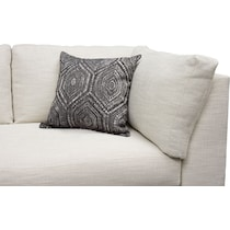 anderson white  pc sectional with left facing chaise