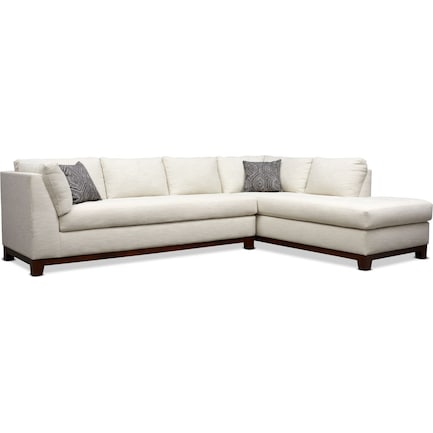 Anderson 2-Piece Sectional with Right-Facing Chaise - Ivory
