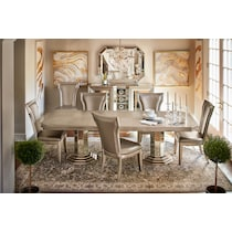 angelina dining metallic dining table