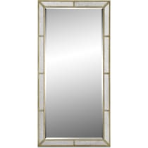 angelina metallic floor mirror