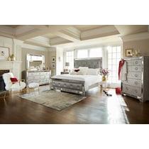 angelina silver nightstand
