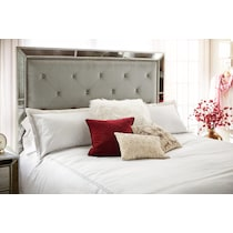 angelina silver queen bed