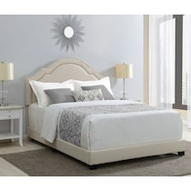 archie light brown queen upholstered bed