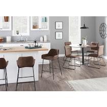 ari dark brown dining chair