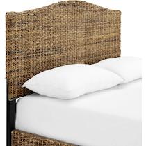 aria dark brown queen bed