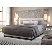 ariana gray queen upholstered bed