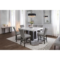 Artemis Marble Counter Height Dining Table American Signature Furniture