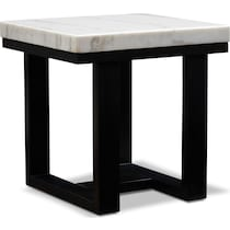 artemis white end table