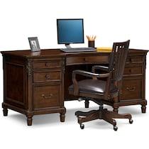 ashland dark brown  pc home office