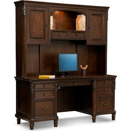 Ashland Credenza Desk with Hutch